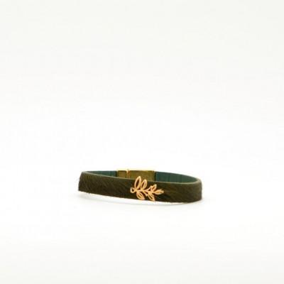 Bracelet Leaf   Green