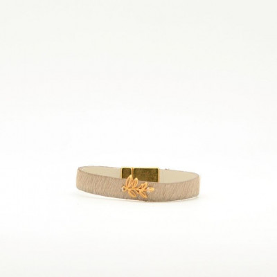 Bracelet Leaf   White