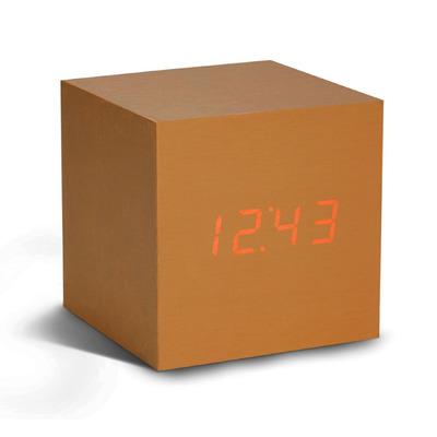 Würfel-Klick-Uhr   Kupfer / Rot