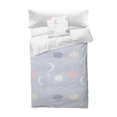 Bettbezug Moon I Lila 155x220 + 110x45 cm