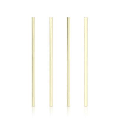Breite Cocktail-Strohhalme Belmont 4er-Set | Gold