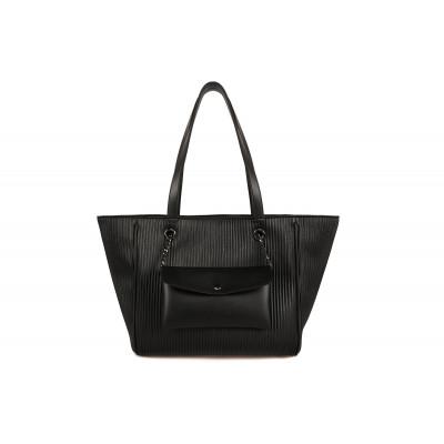 Handtasche Relief | Schwarz