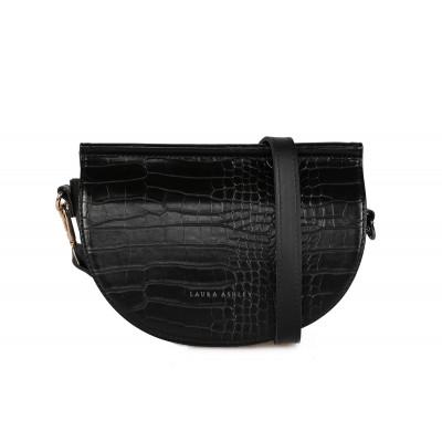 Handtasche Tarlton Croco | Schwarz