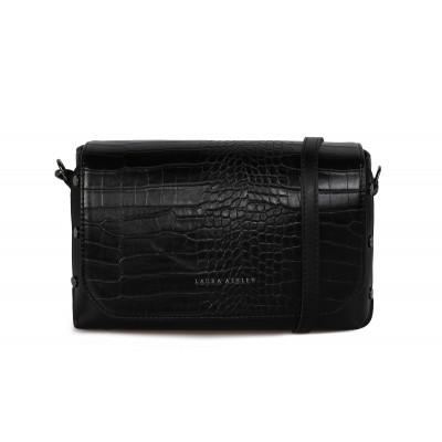 Handtasche Cathcart Croco | Schwarz