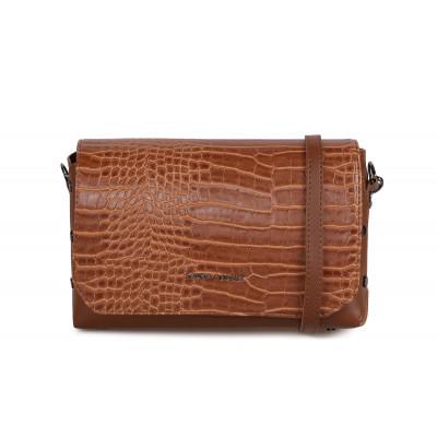 Handtasche Cathcart Croco | Tan