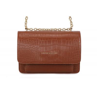 Handtasche Salvia Croco | Tan