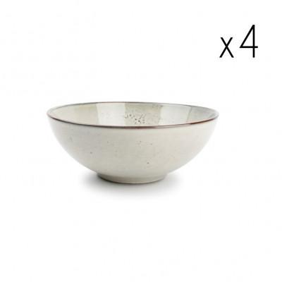 4er-Set Schüssel Freckles 10xH6cm | Grün