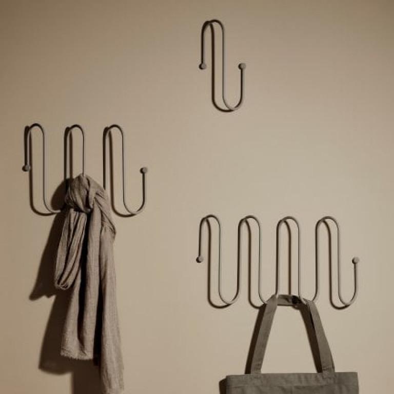 Coat Rack Curl Small | Grey