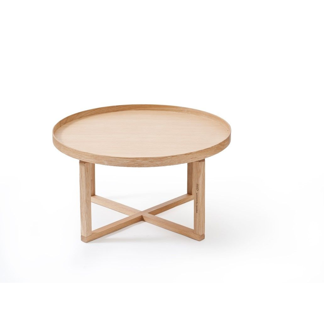 Coffee Table 66D Round | Light Wood