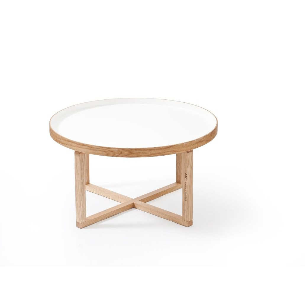 Coffee Table 66D Round   White