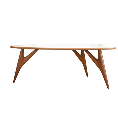 Table Ted One | White and Mahogany