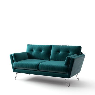 2-Sitzer-Sofa Tido   Petrolblau