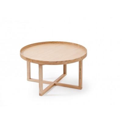 Couchtisch 66D Rund | Helles Holz