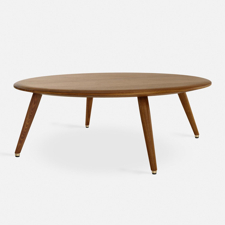 Round Coffee Table Fox | Dark Wood