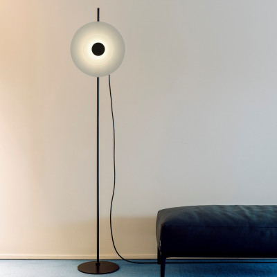 Stehlampe Halos | Schwarz