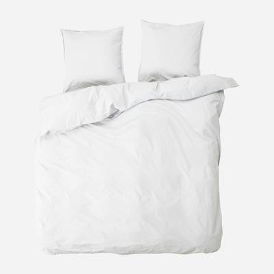 Doppelter Bettbezug mit 2 Kissenbezügen Ingrid   Schnee
