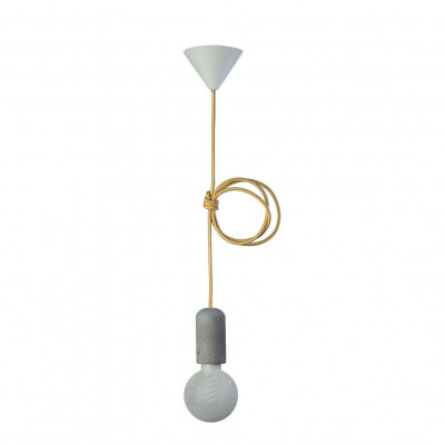 Concrete Pendant Lamp | Gold