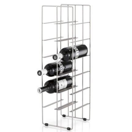 Weinflaschenregal Pilare   12 Flaschen   Vernickelter Stahl