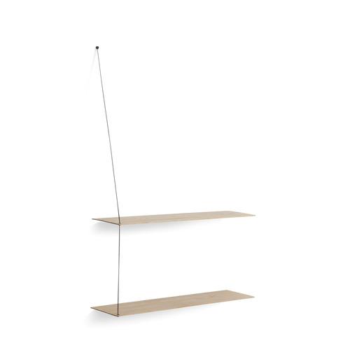 Shelf Stedge | White Pigmented Laquered Oak Large