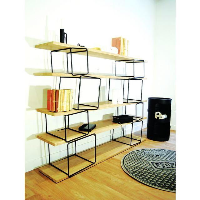 Quake Shelves Black & Oak