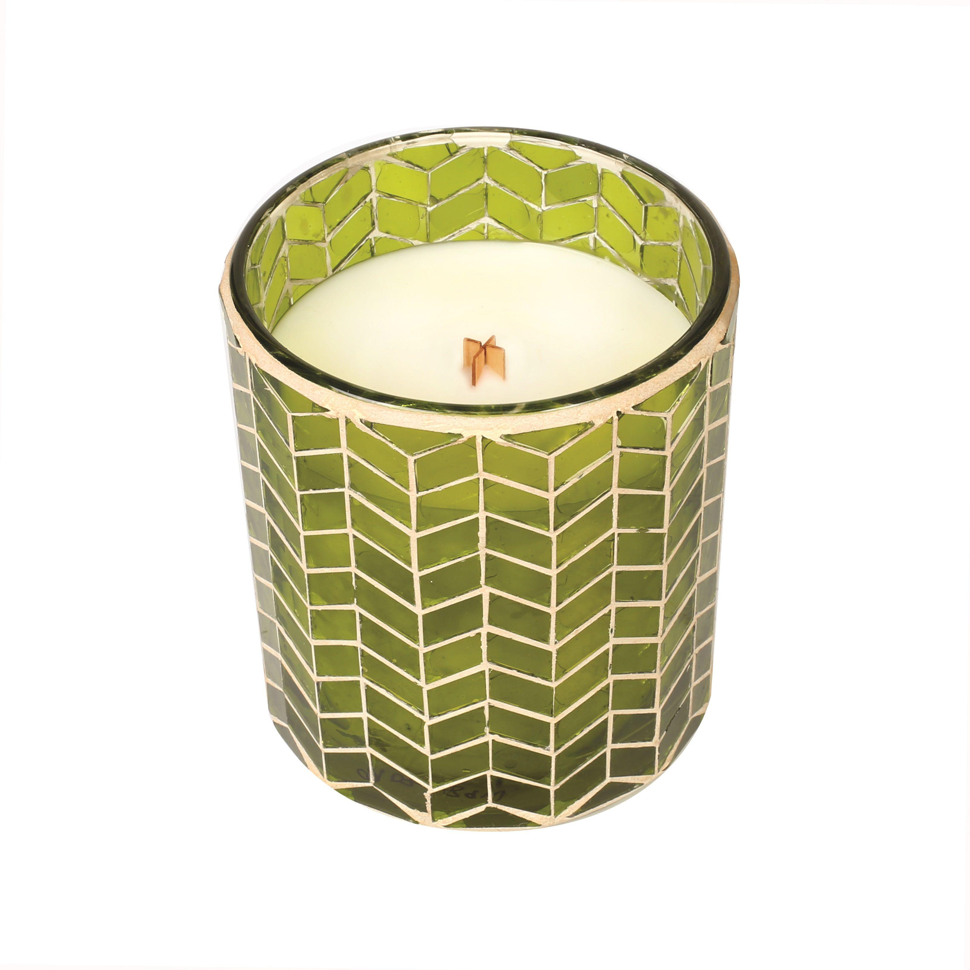 Chevron Mosaic Candle | Apple Basket