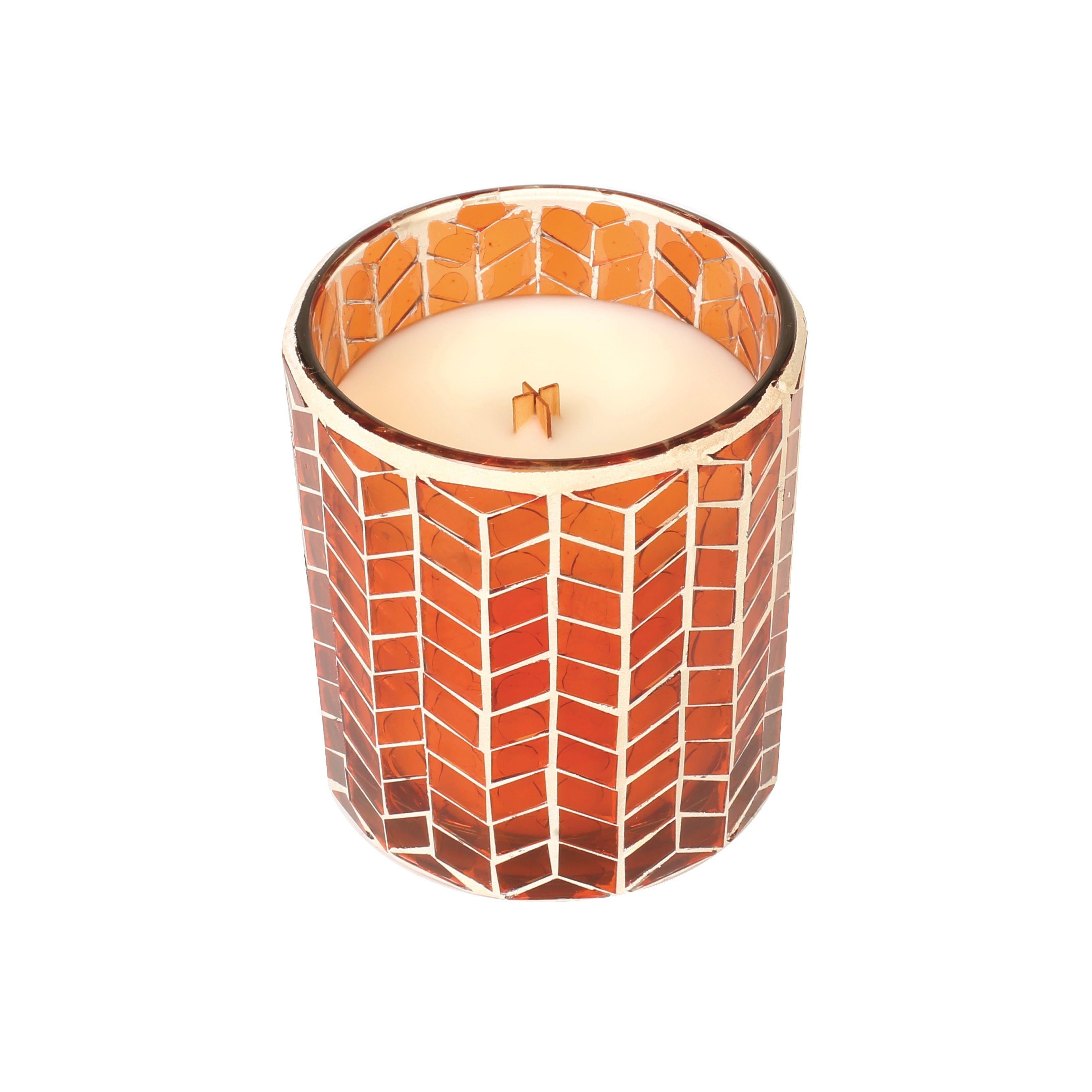Chevron Mosaic Candle   Pumpkin Butter
