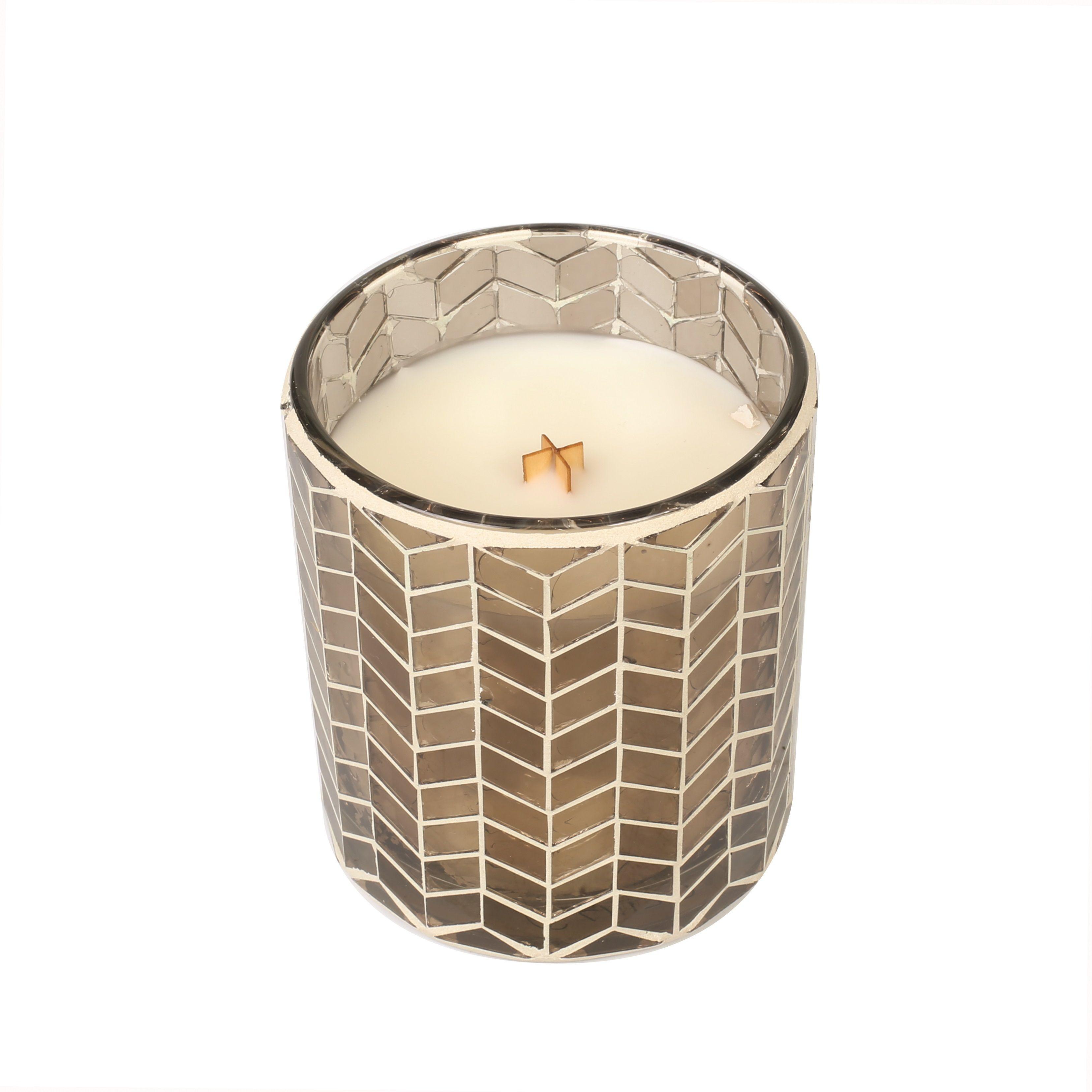 Chevron Mosaic Candle   Fireside