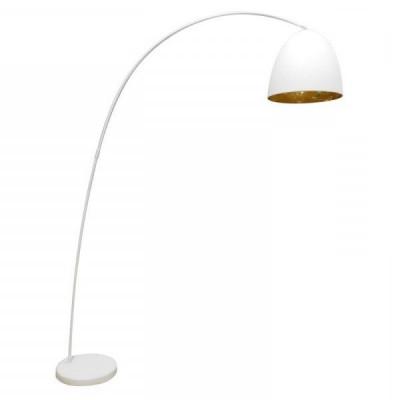Floor Lamp Boog Egg | Gold & White