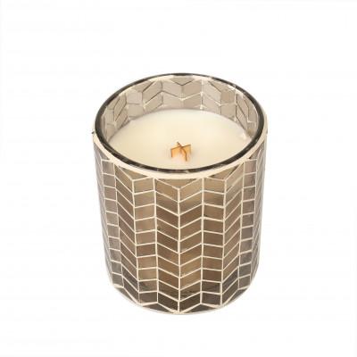 Chevron Mosaic Candle | Fireside