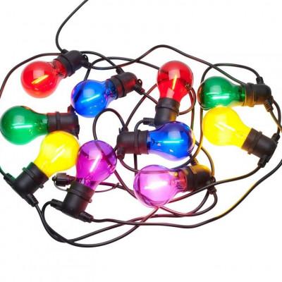 Lichterkette Tobias Ergänzungssatz 10 Lampen | Mehrfarbig