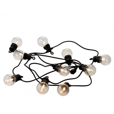 String Lights Lucas Start Set 10 Lamps | Clear/Black