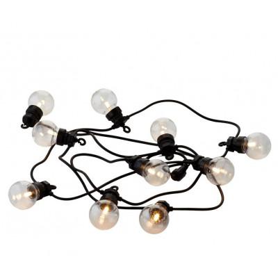 Supplementary String Light Lucas 10 Lamps | Clear/Black