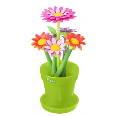 Vase with Set of 6 Pens Flower   Multi