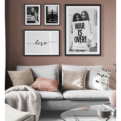 4er-Set Wandkunst Liebe TS38   Mehrfarbig