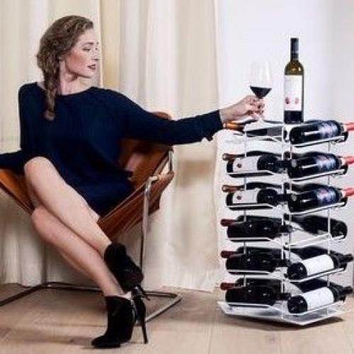 VINCENT Wine Rack 24 Bottles   White