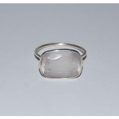 Petal Pink Rose Quartz Ring