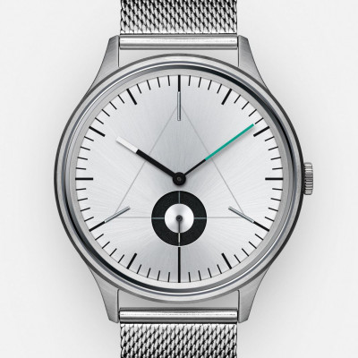 The Architect Analog Watch   Brushed Steel, Stainless Steel Strap