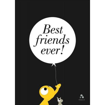 Beste Freunde aller Zeiten Poster | Dunkelgrau