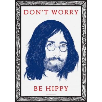 Art Print Don't Worry Be Hippy