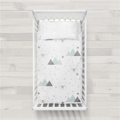 MaxiCrib Bettbezug Mountain I Weiß 115x145 + 40x60 cm