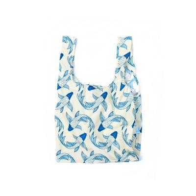 Wiederverwendbare Tasche Koi-Fish   Blau und Weiß