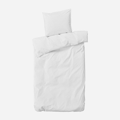 Einzelner Bettbezug mit Kopfkissenbezug 50 x 70 Erika   Schnee & Kohle
