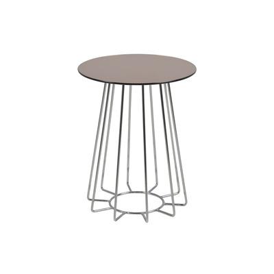Couchtisch Casia Glas | Bronze & Chrom