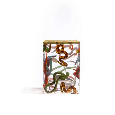 Vase Snakes 10x8x14 cm | Multicolour