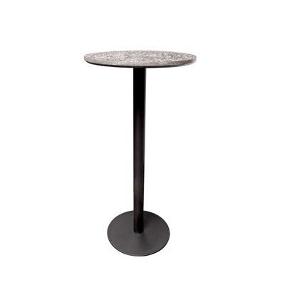 Runder Tisch Terrazzo Hoch | Schwarz