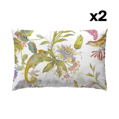 Set of 2 Pillow Covers 50 x 75 | Chameleon
