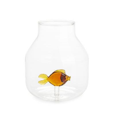 Vase Atlantis-Fisch Bernstein | Konisch