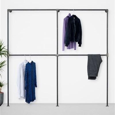 The Walk-In 2 Row Wardrobe System I Black