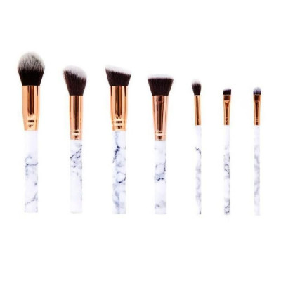 Make Up Brush Set with Leather Pouch   Marble