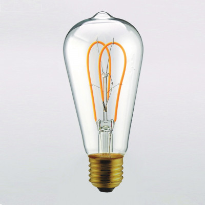 Light Bulb Curved Clear | Transparent